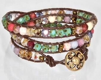 Beaded Bracelets for Women Chan Luu Wrap Bracelet Triple Wrap Bracelet