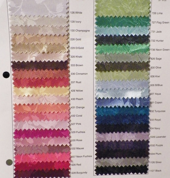 Fabric Color Samples for 50s Vintage Inspired  Bridals Formals Cocktails  Party Mad Men Retro Sexy Swing Dress