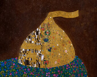 The Kiss // Klimt chocolate pun art -art print