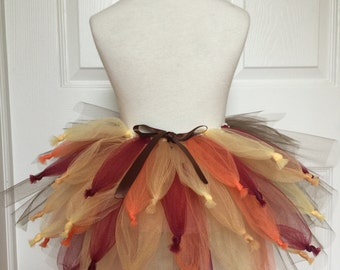 Turkey Adult Tutu Skirt, Turkey Tutu costume, Thanksgiving Tutu skirt, Turkey Trot Tutu