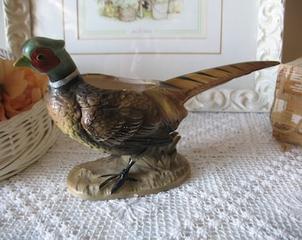 Vintage planter Pheasant. Bird planter, ceramic pot. Made by the Japan.