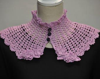 collar romantic purple crochet