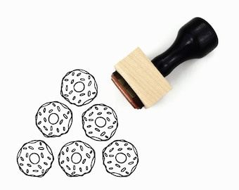 Rubber Stamp Sprinkles Donut | Hand Drawn Stamp