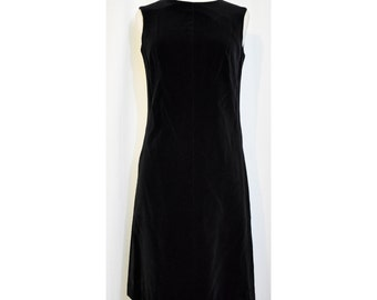 Majestic Black 50s/60s Velvet Wiggle Dress