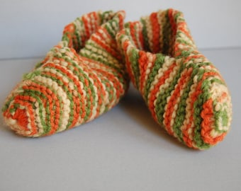 Pumpkin Knit Slippers