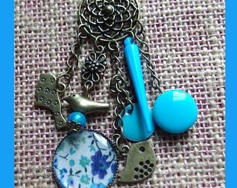 Liberty necklace phoebe blue