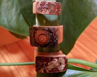 Hand crafted wood rings