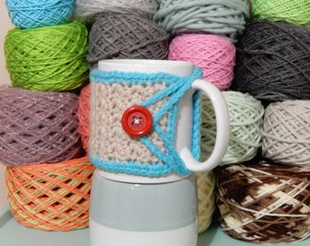 Blue Trim Mug Cozy