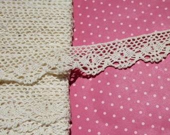Antique Lace Vintage Lace Trim Cluny Lace Cotton Scalloped Lace Off-White