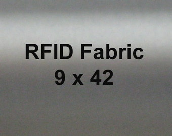 RFID Blocking Fabric, EMI Shielding  for Wallets Lining, Purse lining, Pocket Lining 9 by 44 inches
