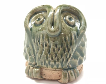 Owl Spice or Parm Cheese Shaker in Green