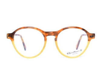 vintage glasses James Dean tortoise eyeglasses - two tone transparent brown glasses for men and women - 80s deadstock round glasses frames