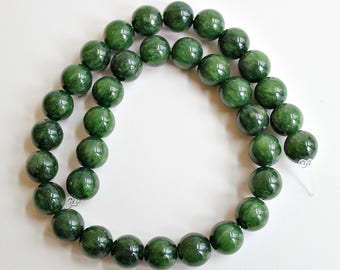 Natural Green Howlite Round 7.5mm Loose Beads, Natural Gemstone Bead, Semi precious Gemstone Bead, Wholesale Bead, Full Strand, Green Beads