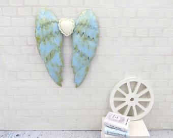 Light blue angel wings in 1:12 scale
