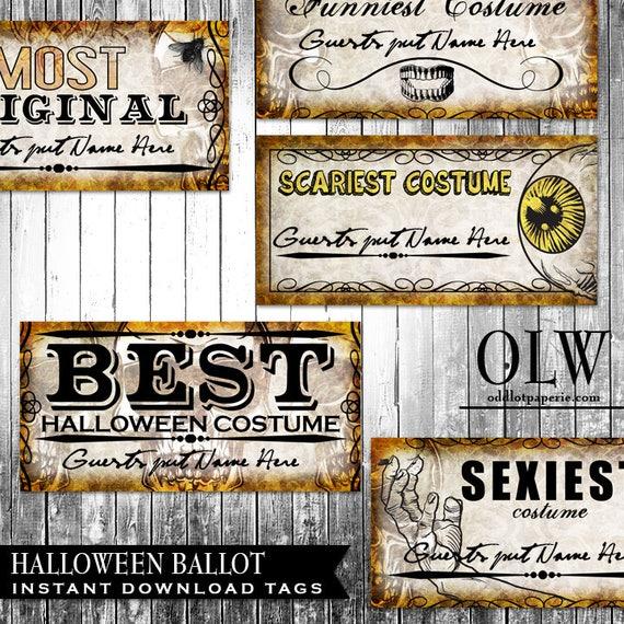 halloween costume contest template