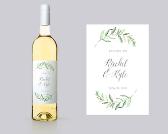 Personalized Couples Wine Label. Editable Wedding Wine Labels. Wedding Wine Bottle Labels. Couples Wine Bottle Labels Engagement Wine W12