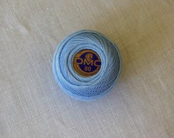 Cotton lace n ° 80 blue DMC light no. 800