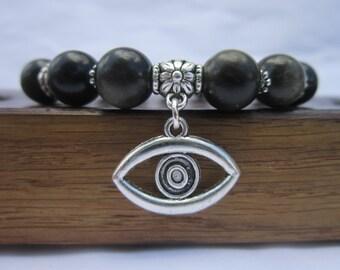 Evil Eye Charm Bracelet, Evil Eye Talisman Bracelet, Evil Eye Charm Gemstone Bracelet Evil Eye Protection Bracelet Evil Eye Charm Bracelet