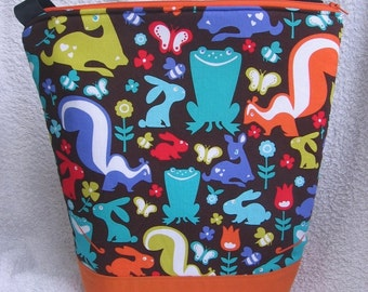 Woodland Friends Lunch Tote - Insulated - With Zipper