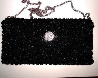 Crochet Black Bag