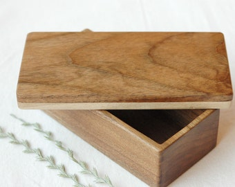 Walnut wood box, Wooden box, Keepsake box