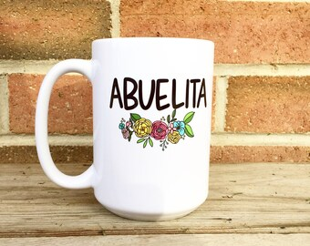 Abuelita Mug, Grandma Gift, Christmas Gift, Personalized Mug