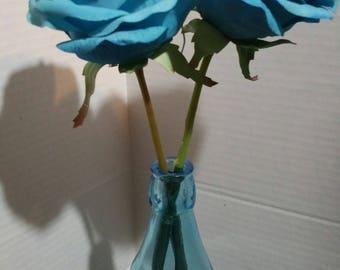 Silk Flower Ink Pen - XL Blue