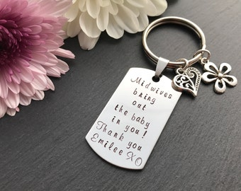 Personalised Midwife Gift - Thank you gift - Midwife Gift - Midwife Keyring - Australia - Gift for Nurse or Doctor