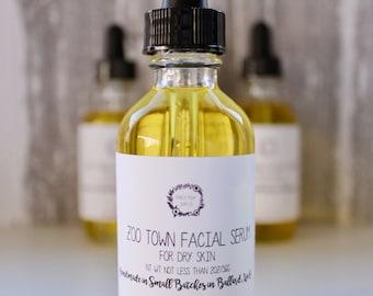 Dry Skin Facial Serum - Dry Skin Serum, Facial Serum,  Homemade Serum, Facial Moisturizer, Jojoba Oil Serum, Argan Oil Serum