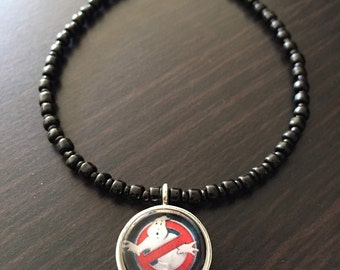 Ghostbusters Anklet, Ghostbusters Charm, Ghostbusters Jewelry, Nerdy Anklet, Nerdy Jewelry, Geeky Anklet, Geeky Jewelry, Nerdy Charm Anklet