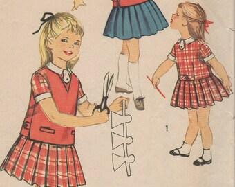 Robe et blouson simplicité 2673 SZ des années 1950-1 enfant