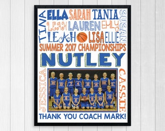 BASKETBALL COACH GIFT ~ Basketball Gifts ~ Basketball Team Gift ~ Personalized Basketball ~ Girls Basketball Team ~ Printable Basketball