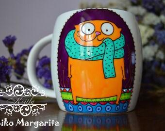 Cat mug Ceramic mug Cute mug Funny cat Cute Coffee mug Cat lover gift Cat coffee mug mug Cat lover mug Funny coffee mug Cat coffee cup