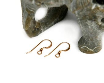 1 pair of Gold Filled 14k french hook earrings