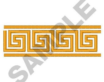 Greek Key Border - Machine Embroidery Design