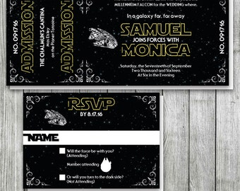 Star wars wedding invitations Etsy