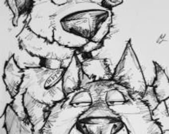 Digitally Delivered Custom Pet Caricature
