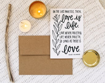 "Love 4""x6"" Greeting Card - Henry Drummond"