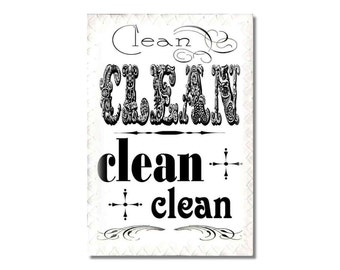 Dishwasher Clean Dirty Magnet Sign Typography shabby hipster vintage style fonts  Wife Gift