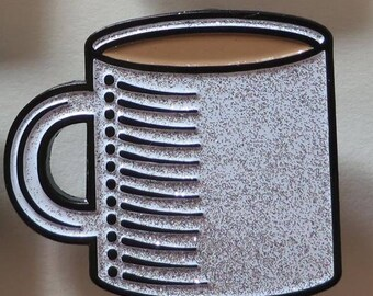 Coffee Cup (Glitter) - Enamel Pin