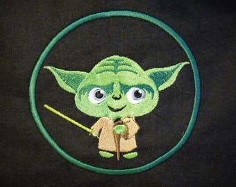 Cute Embroidered Yoda Messenger Bag
