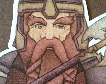 John Rhys-Davies as Gimli- Lord of the Rings magnet