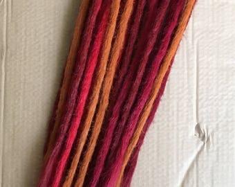 25 SE dreadlocks in autumn colours