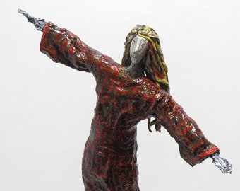 Paper mache, sculpture, figure, mache, art, figurine