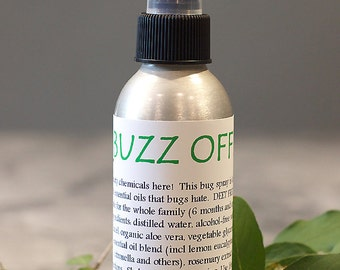 BUZZ OFF Bug Spray, Natural Bug Repellent Safe for Kids and Pets