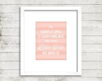 Sugar & Spice Instant Download Print