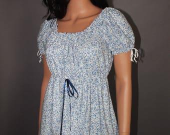 Calico Regency Dress For Orders, Pride Prejudice Jane Austen Gown, Cotton Empire Waist Dress Choose Color