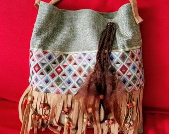 bohemian bag, hippie bag, gypsy bag, boho bag, bohostyle, vegan bag, ethnic, cross body