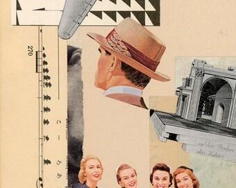 HAT-collage series in petiot 01 dada art