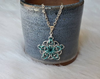 Celtic Star Weave | Chainmaille Pendant
